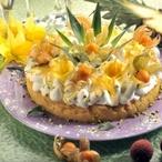 Tropický dort se sněhovým bezé