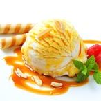 Zkaramelizovaný ananas se zmrzlinou