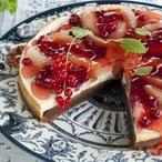 Žíhaný koláč s ovocem