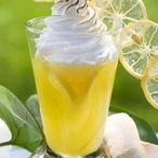 Citronový krém s páleným sněhem