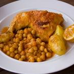 Pečené kuře s cizrnou