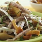 Tlačenkový salát s houbami