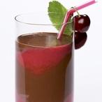 Čokoládový koktejl s višněmi