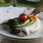 Pečený platýz se zeleninou