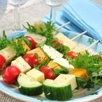 Minišpízy se sýrem a zeleninou
