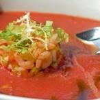Gazpacho s marinovanými krevetami