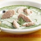 Špenátová polévka s knedlíčky