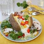 Plněné brambory houbami