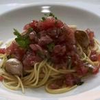 Spaghetti aglio, olio, peperoncino s tuňákovým tatarákem