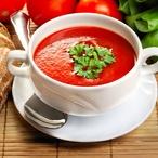 Rajská polévka s fazolemi a zeleninou