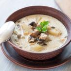Bramborová polévka se syrovátkou a houbami