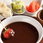 Čokoládové fondue s ovocem II