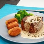 Hovězí steak s omáčkou z čerstvého pepře