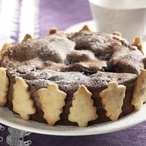 Čokoládovo - skořicový dort s višněmi