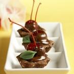 Čokoládové košíčky s višněmi