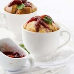 Tvarohové suflé s jahodovou omáčkou