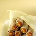 Plněné kávové trubičky