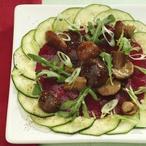 Zeleninové carpaccio s nakládanými houbami