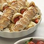 Gratinované palačinky s jahodami