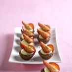 Kakaové košíčky s jahodami