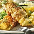 Smažený ananasovo-sýrový špíz