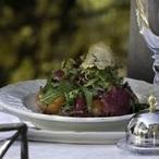 Trhaný salát s rajčátky a citrusovou zálivkou