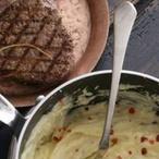 Hovězí steak s krémovou bramborovou kaší