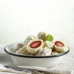 Krupicové knedlíčky s jahodami