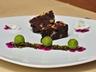 Čokoládové brownie s ořechy se sorbetem z limety