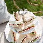 Jahodové sendviče s rukolou