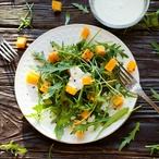 Salát s pečenou dýní a ricottou