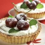 Linecké koláčky s čerstvými třešněmi