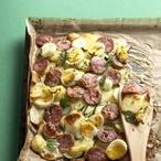 Pečené brambory s kabanosem