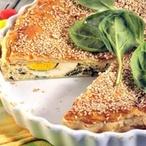 Slaný špenátový koláč s vejci