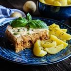 Zapečené mleté vepřové maso s kyselým zelím a bramborami