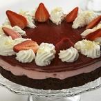 Jahodový dort s želé