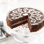 Čokoládový dort s ornamentem