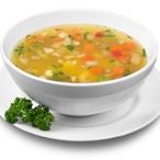 Zeleninová polévka s krupicovými nočky