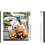 Sendvič s vepřovým masem a naloženou okurkou