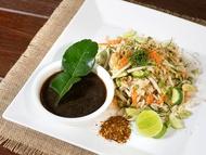 Rybí miska se zeleninou a fazolemi