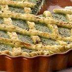 Mřížkový koláč se špenátem