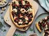 Pizza s houbami a krémem z oříšků kešu