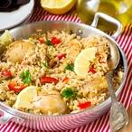 Zázvorové kuře s rýží a zeleninou