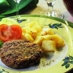 Grilovaný mletý steak na česneku