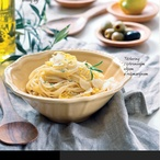 Těstoviny s citronovým olejem a rozmarýnem