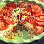 Zeleninový nářez zapečený v rýži