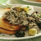 Vajíčková pomazánka s olivami