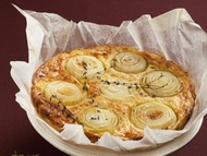 Bramborový koláč s cibulí