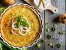 kukuřičný koláč s omáčkou z rajčat (ekoki)