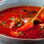 Chilli polévka s hořkou čokoládou